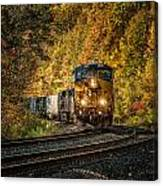 Fall Train Canvas Print