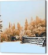 Fallen Fence Line Canvas Print