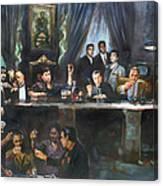 Fallen Last Supper Bad Guys Canvas Print