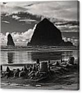 Fallen Sand Castles Canvas Print