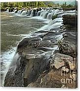 Falling Across The New River Canvas Print