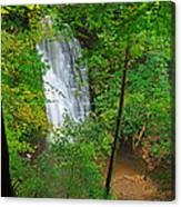 Falling Foss Waterfall In North York Moors National Park Canvas Print