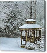 Falling Snow - Winter Landscape Canvas Print