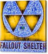 Fallout Shelter Abstract 4 Canvas Print