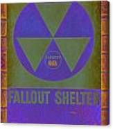 Fallout Shelter Abstract Canvas Print