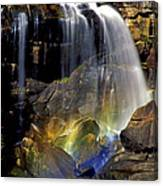 Falls And Rainbow Canvas Print