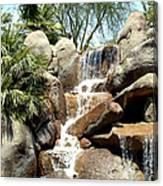 Falls At Jackalope Ranch 2 Canvas Print