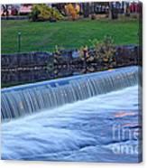 Falls At Slater Mill Canvas Print