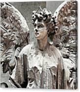 Famiglia Cavaliere Del Francesco Canti Memorial Marker Detail IIi Monumental Cemetery Canvas Print