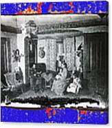 Family At Home Interior Collage Tucson Arizona Circa 1883-2012 Canvas Print