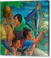 Family Bonding In Bicol Canvas Print