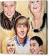 Family Collage Commissions Canvas Print