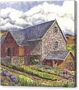 A Scottish Farm  Canvas Print
