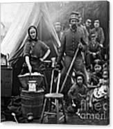 Family Housing For 31st Penn Infantry Fort Slocum Washington Dc 1861 Canvas Print