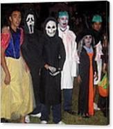 Family Of Ghouls Halloween Party Casa Grande Arizona 2005 Canvas Print