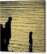 Family Paddle Canvas Print