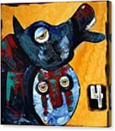 Famine - The Black Horse Canvas Print