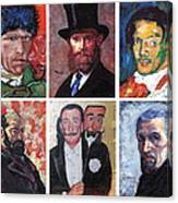 Famous Artist Self Portraits Canvas Print