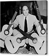 Famous Guitarist Carlos Montoya 1953 Canvas Print
