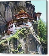 Famous Tigers Nest Monastery Of Bhutan 7 Canvas Print