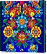 Fancy Blooms Bouquet Canvas Print
