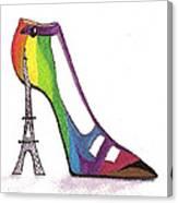 Fancy Parisian Shoe Canvas Print