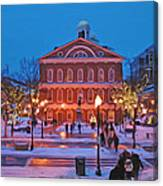 Faneuil Hall Holiday- Boston Canvas Print