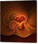 Fanfare Orange Canvas Print