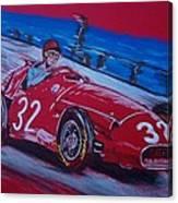 Fangio At Monaco 57 Canvas Print