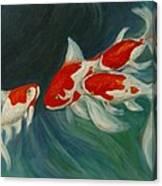 Fantail Koi Canvas Print