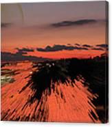 Fantastic Space Sunset Canvas Print