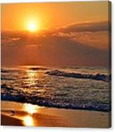 Fantastic Sunrise Colors Clouds Rays And Waves On Navarre Beach Canvas Print