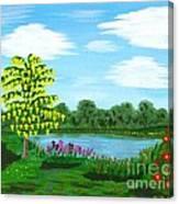 Fantasy Backyard Canvas Print