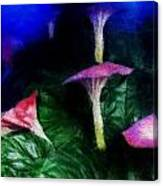 Fantasy Flowers Embossed Hp Canvas Print