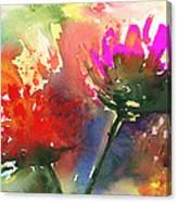 Fantasy Flowers Canvas Print
