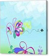Fantasy Garden Chisdren's Art - Side Panel 2 Canvas Print