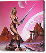 Fantasy Warrior Princess Canvas Print