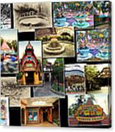 Fantasyland Disneyland Collage Canvas Print