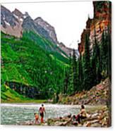 Far End Of Lake Louise In Banff Np-alberta Canvas Print