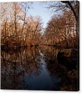 Far Mill River Reflects Canvas Print