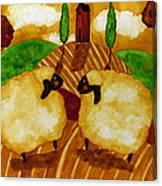 Farm Animals Countryside Sheep Italian Whimsical Folk Debi Hubbs Children Art Canvas Print