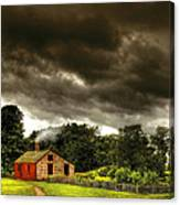 Farm - Barn - Storms A Comin Canvas Print