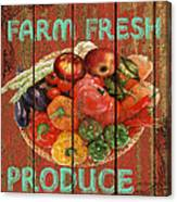 Farm Fresh Produce Canvas Print