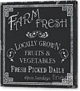 Farm Fresh Sign Canvas Print