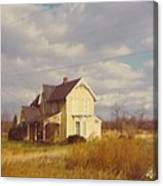 Farm House And Landscape Canvas Print