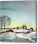 Farm In N.e Yorkshire Canvas Print
