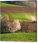 Farm Landscape Springtime Pennsylvania Canvas Print