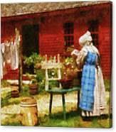 Farm - Laundry - Washing Clothes Canvas Print
