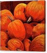 Farm Market Pumpkins Canvas Print