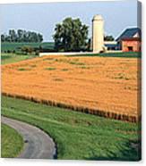 Farm Nr Mountville Lancaster Co Pa Usa Canvas Print